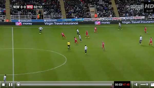 Newcastle United v Wigan full match video.