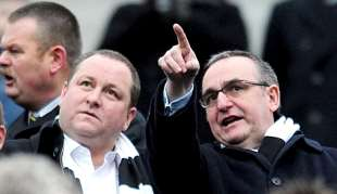 Mike Ashley and Derek Llambias.