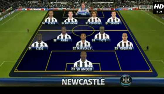 Newcastle United v Everton full match video.