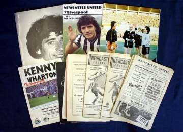 Old Newcastle United programmes.