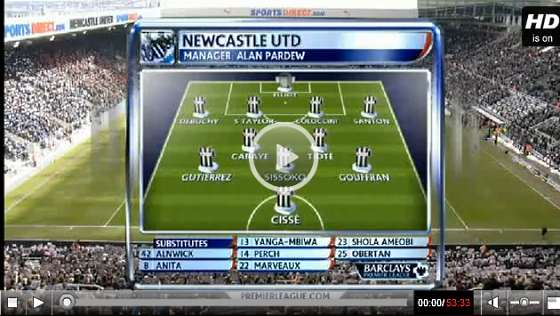 Newcastle United v Southampton full match video.