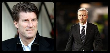 Michael Laudrup and Alan Pardew.