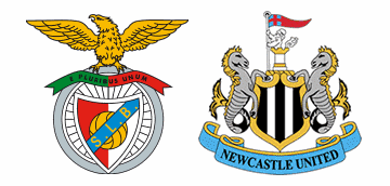 Benfica v Newcastle United in the Europa League.