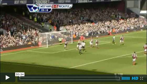 West Ham v Newcastle United full match video.
