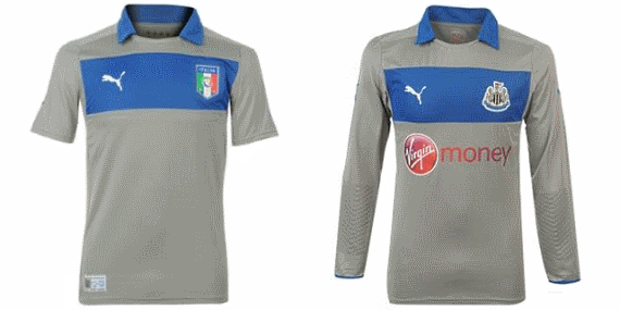 Italy and Newcastle United goalkeeper's tops 2012-13.