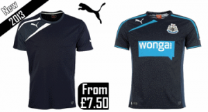 Puma spirit T-shirt & Newcastle United change shirt.