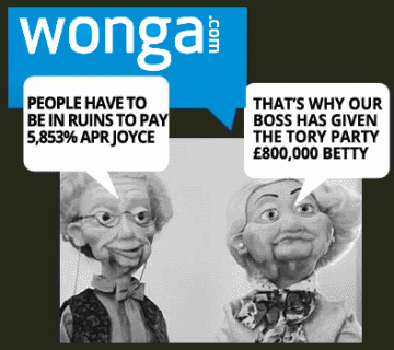 Wonga and the Conservative Party.