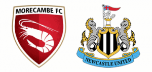 Morecambe v Newcastle United.