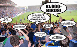 Confused Cardiff fans.