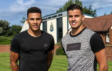 Jamaal Lascelles and Karl Darlow