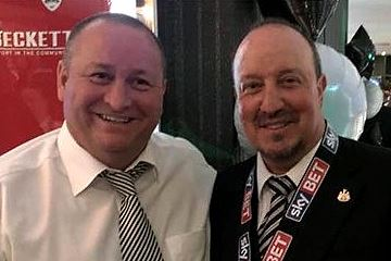 Rafa Benitez and Mike Ashley