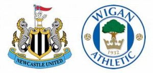 Newcastle United v Wigan Athletic.