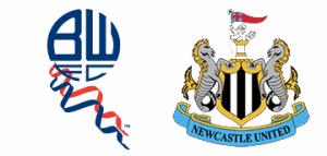 Bolton Wanderers v Newcastle United.
