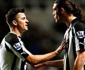 Joey Barton and Andy Carroll, Newcastle United