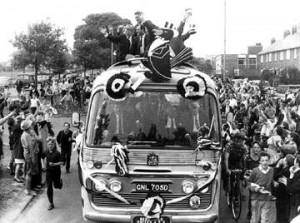 NuFC Fairs Cup parade.