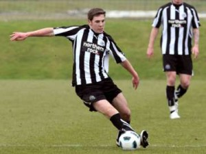 Dan Gosling: First game as a Magpie.