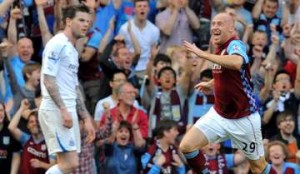 James Collins seals the win for Villa.