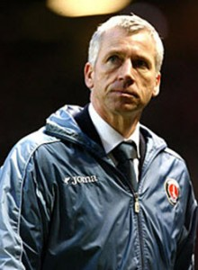 Alan Pardew, Newcastle United manager, rambles on.