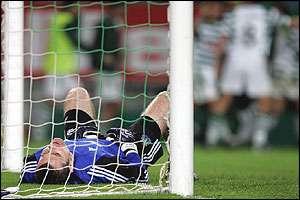 Shay Given v Sporting Lisbon.