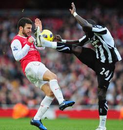 Tiote chuffed to be as Newcastle United.
