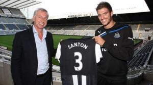 Alan Pardew presents Davide Santon.