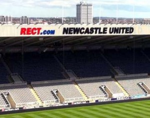 St James' Park East Stand sign.