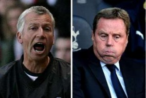 Alan Pardew and Harry Redknapp.