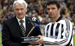Sir Bobby Robson and Gary Speed MBE.