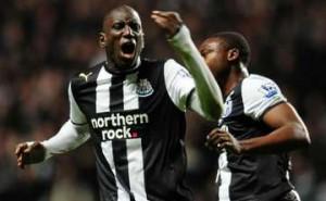 Demba Ba: Scored twice, but it wasn't enough.