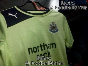 Newcastle United green shirt 2012-13
