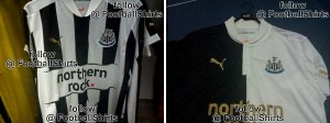 NUFC 2012-13 shirts home and away .