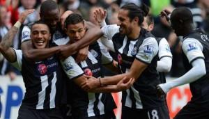 Newcastle United - Ben Arfa scores.