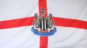 Newcastle United St George's flag.