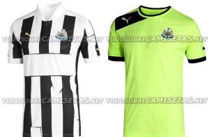 Newcastle United 2012/13 home and change shirts.