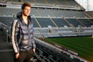 Davide Santon at St James' Park.