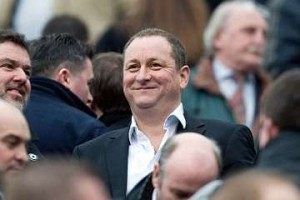 Mike Ashley in the crowd at SJP.