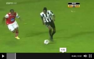 Newcastle United v S.C.Braga highlights.