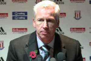 Alan Pardew at Stoke.