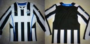 Newcastle United home shirt, 2013-14.
