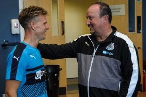 Rafa Benitez and Matt Ritchie